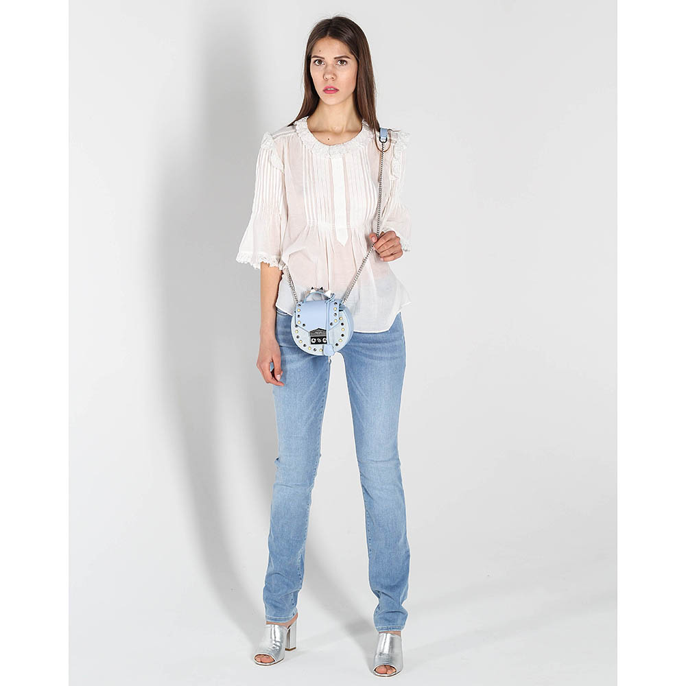 Узкие джинсы Love Moschino голубого цвета