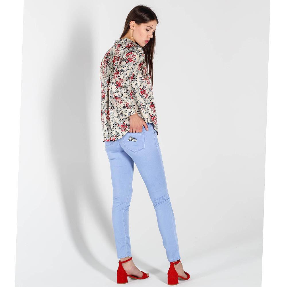 Голубые джинсы-скинни Love Moschino с низкой талией