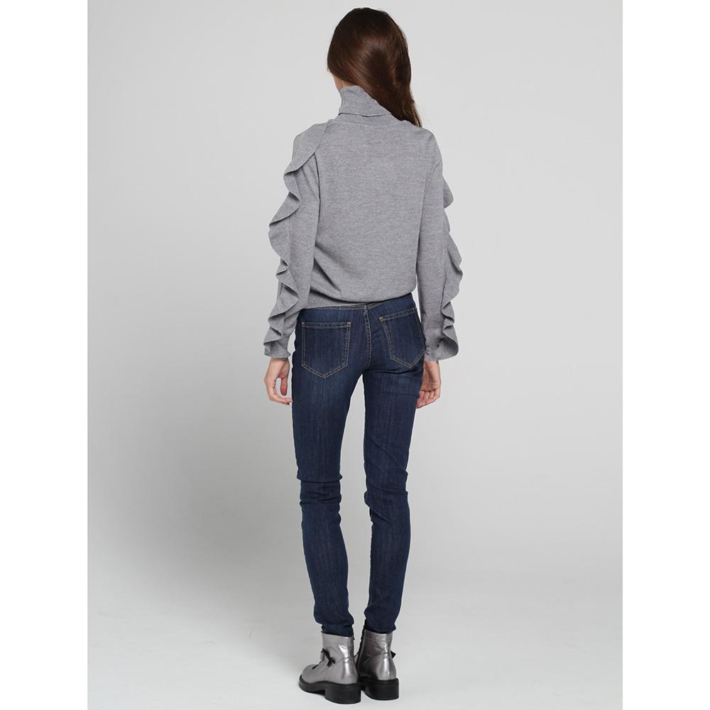 Узкие джинсы Blugirl Blumarine с вышивкой в виде стрекоз