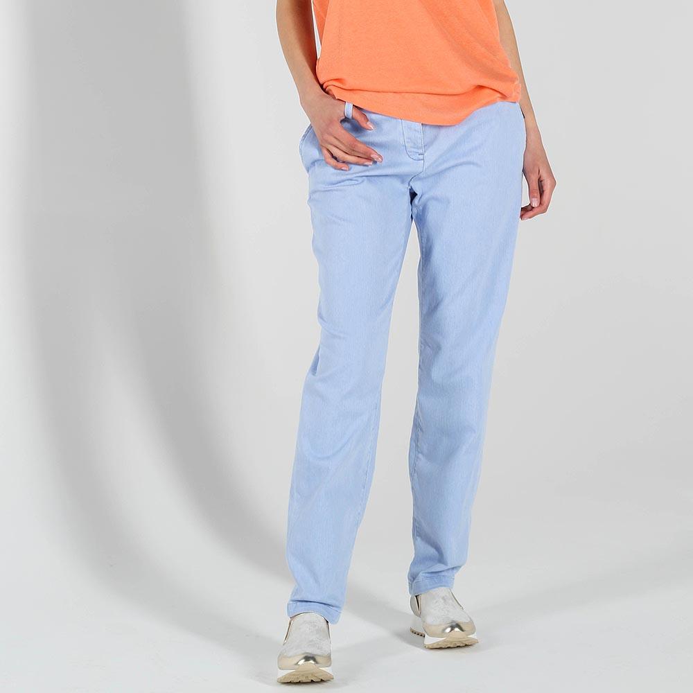 Летние джинсы-бойфренды Trussardi Jeans голубого цвета