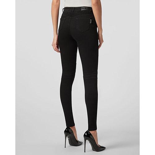 Черные джинсы Philipp Plein с рельефными швами