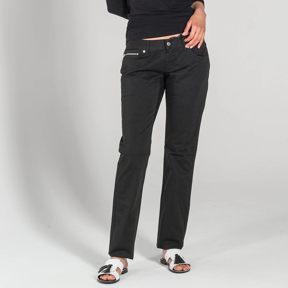 Прямые джинсы Richmond черного цвета с низкой посадкой