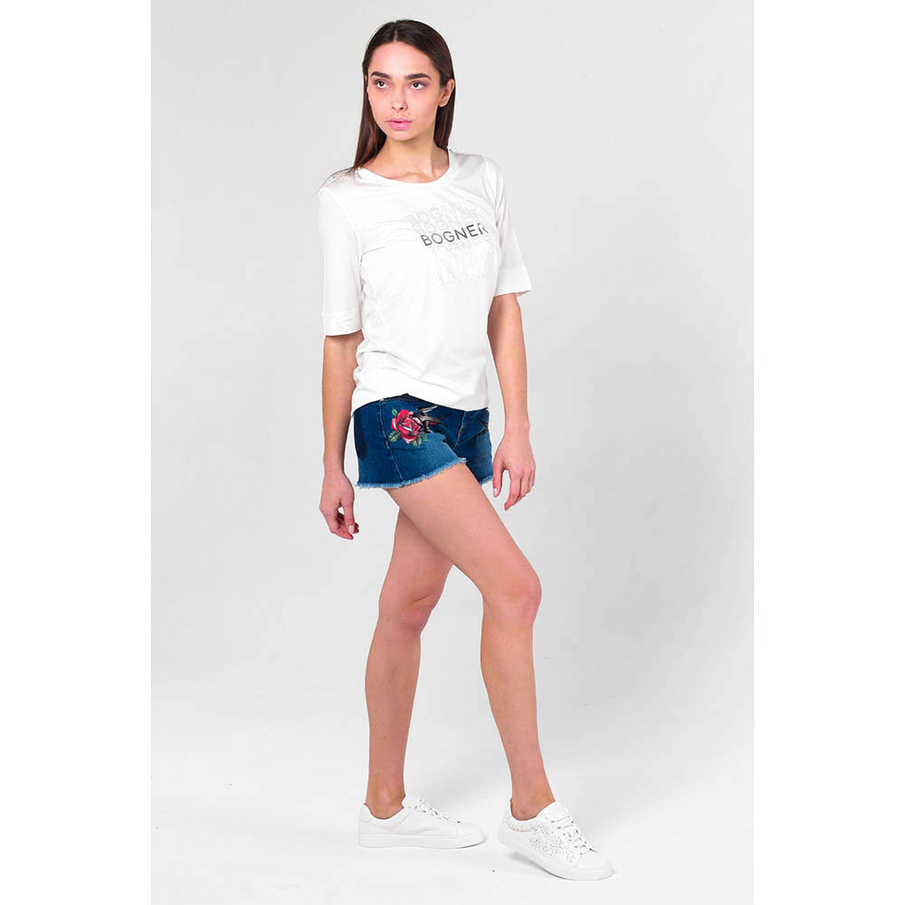 Шорты джинсовые Red Valentino с вышивкой