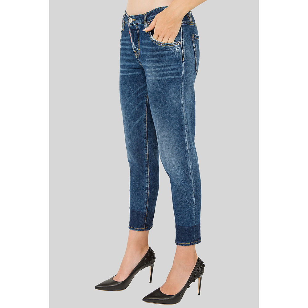 Укороченные джинсы Dsquared2 Hockney Jean