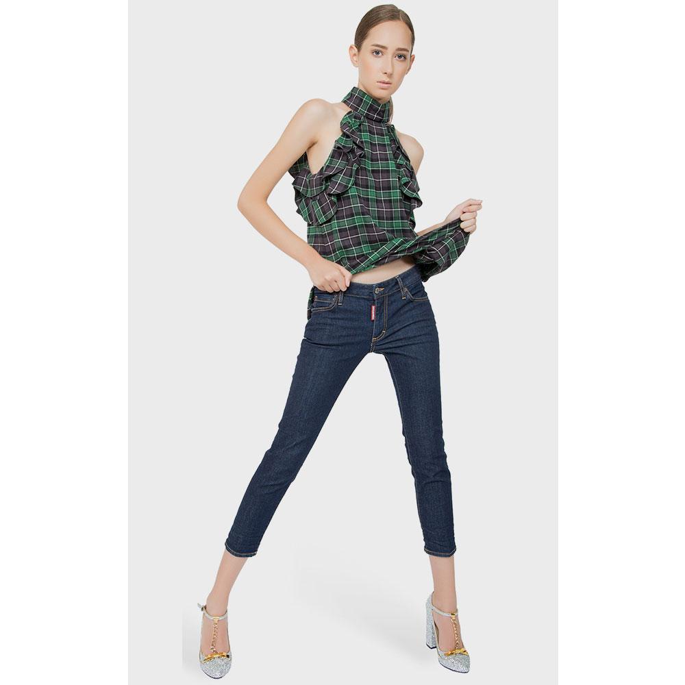 Зауженные джинсы Dsquared2 синего цвета