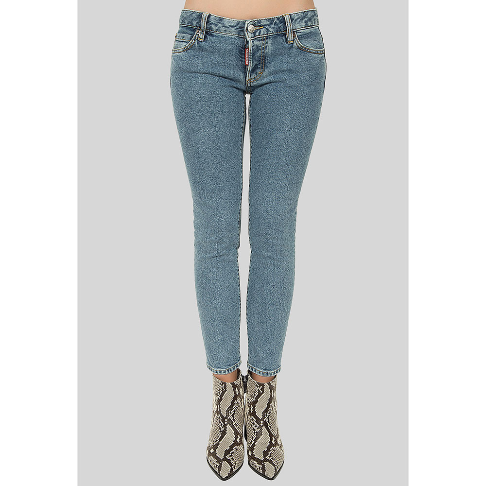 Джинсы Dsquared2 Jennifer Cropped Jean с аппликацией
