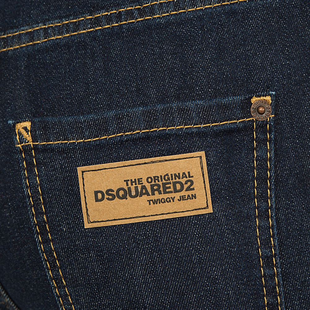 Джинсы Dsquared2 High Waist Cropped Twiggy Jean