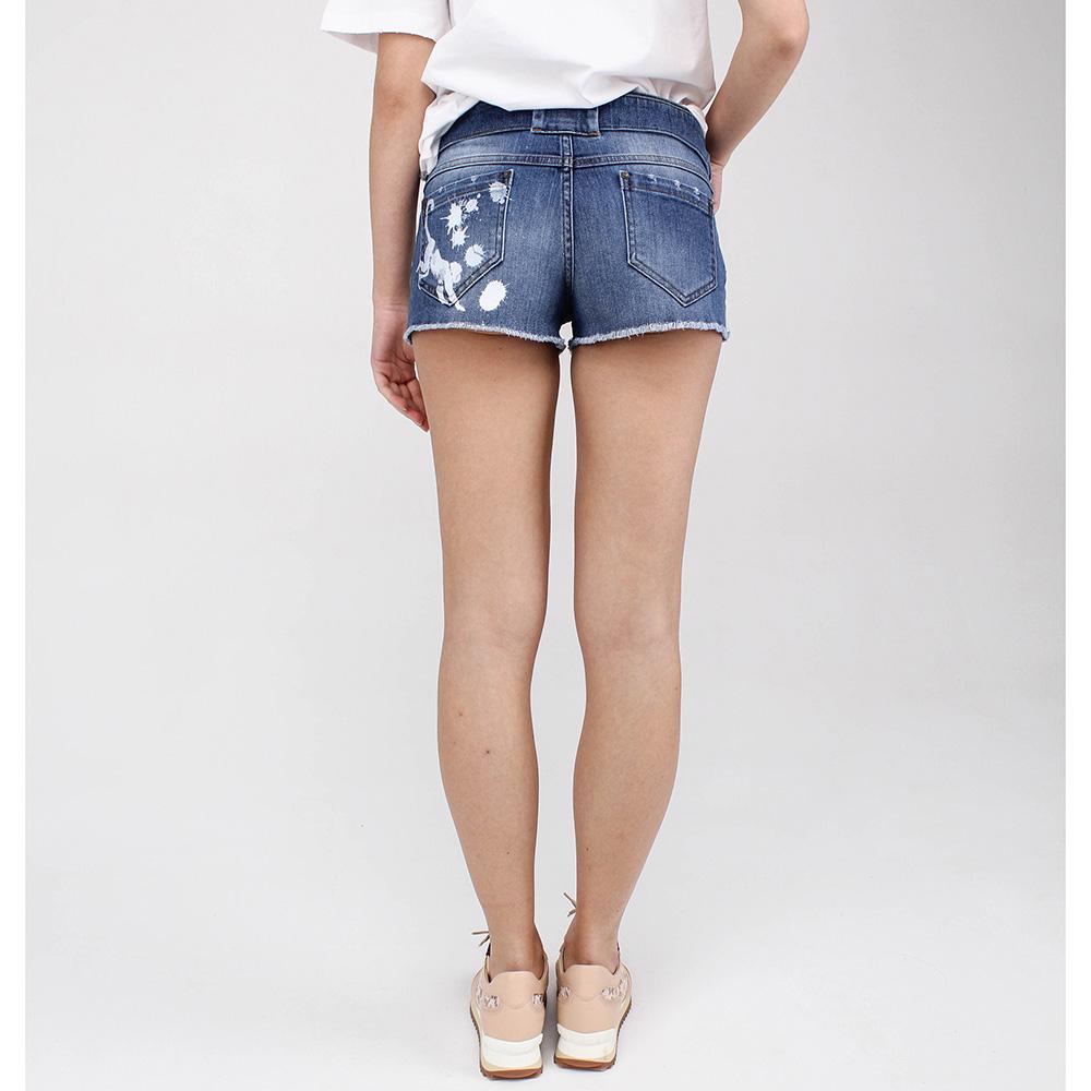 Шорты Red Valentino с джинсовым поясом
