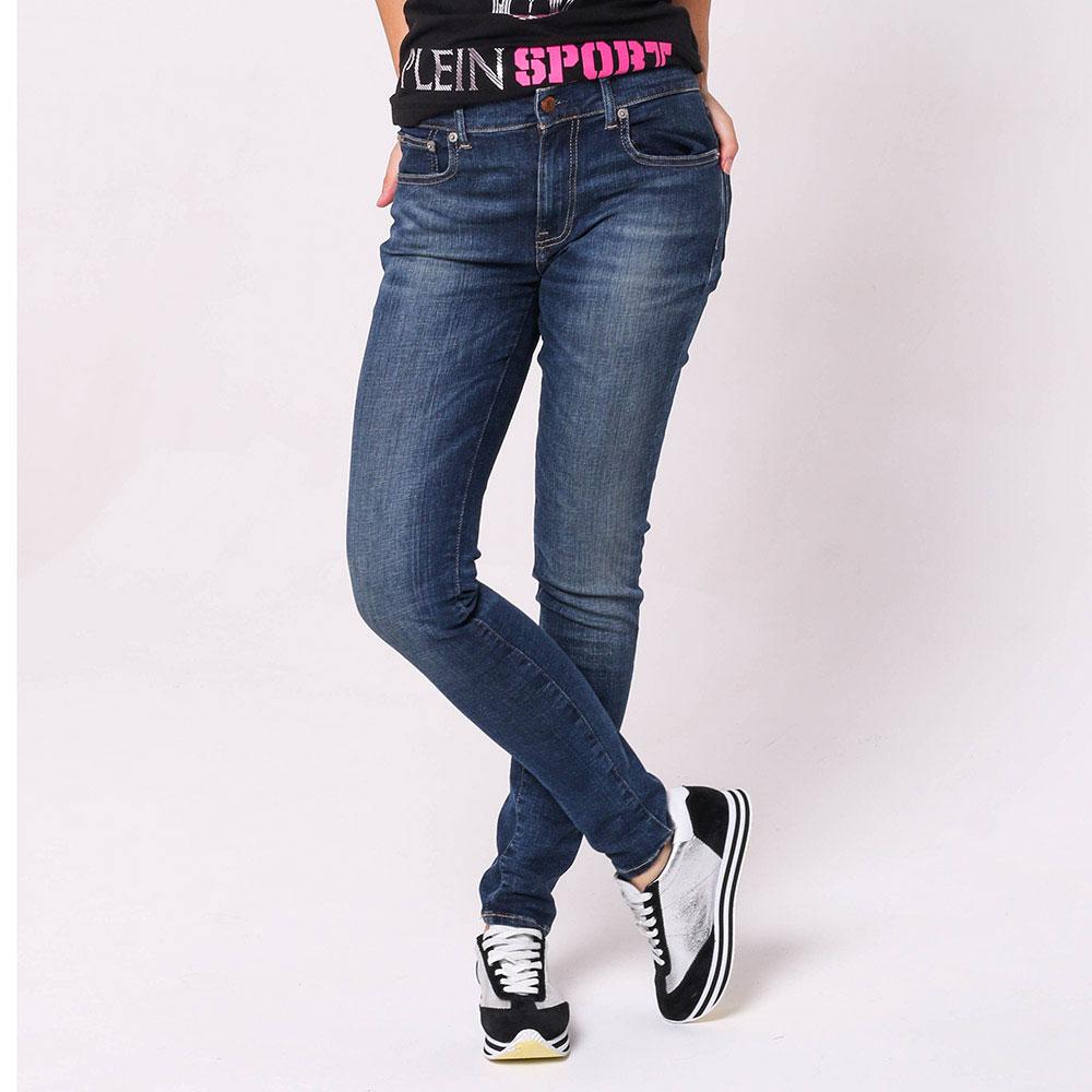 Узкие джинсы Polo Ralph Lauren синего цвета