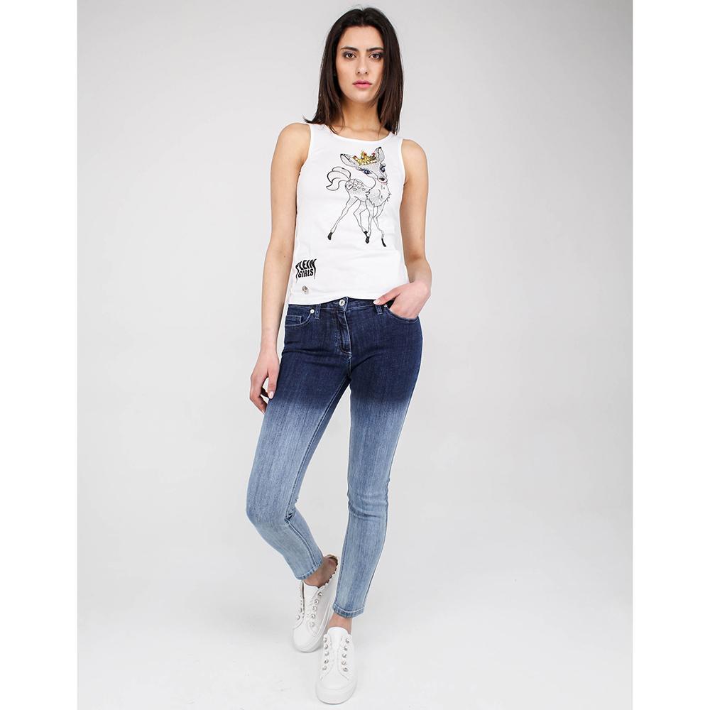 Узкие джинсы омбре Blumarine