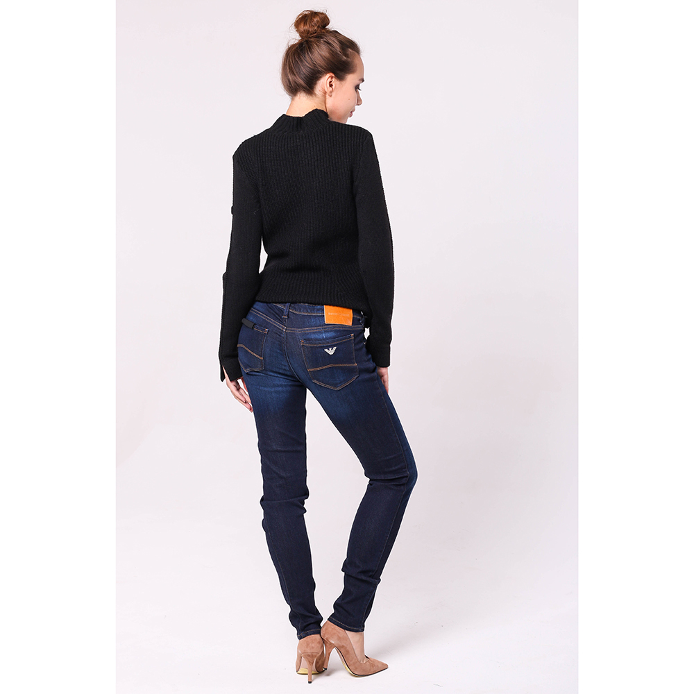 Синие джинсы Emporio Armani со средней посадкой