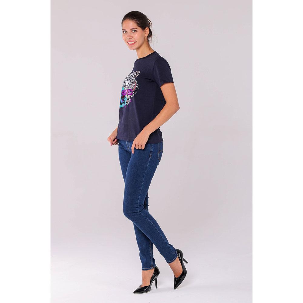 Синие джинсы-скинни Emporio Armani