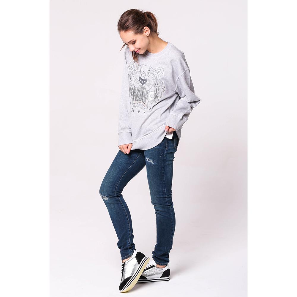 Рваные джинсы Emporio Armani с низкой посадкой