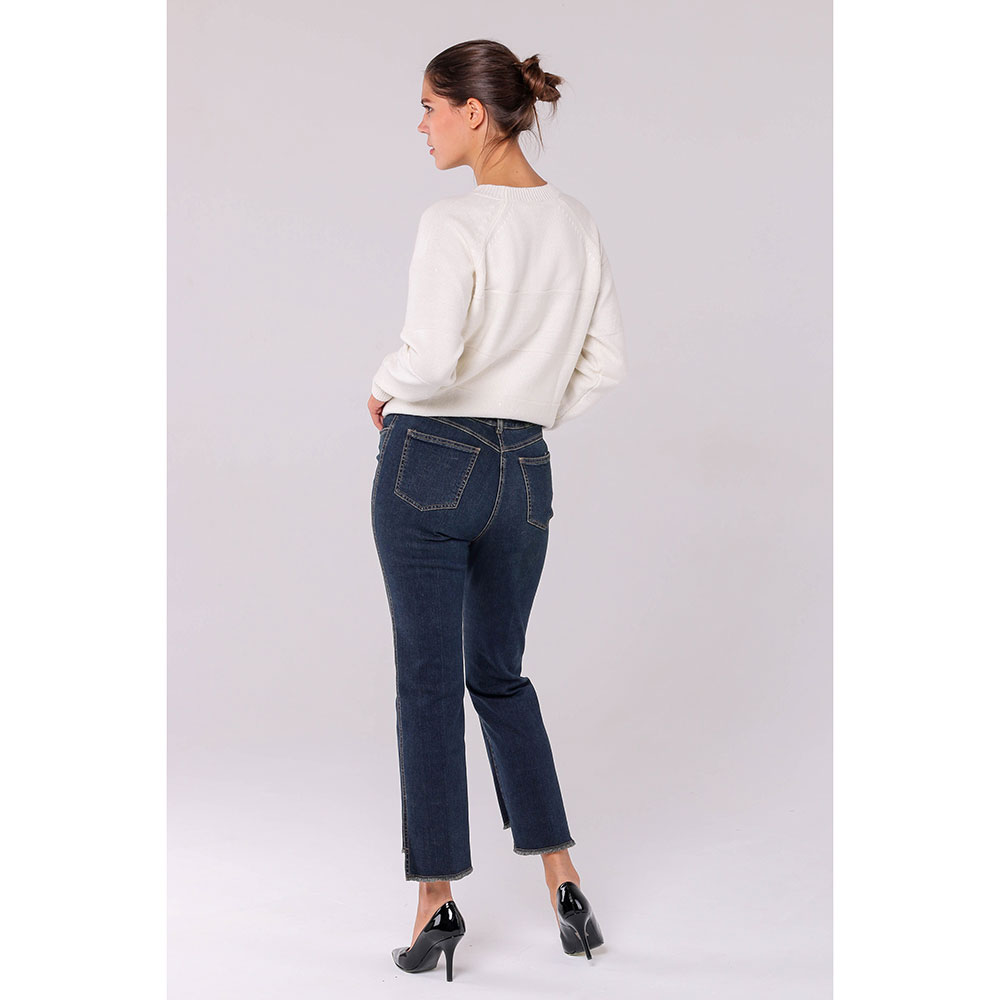 Прямые джинсы Peserico синего цвета