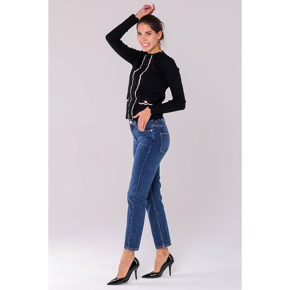 Укороченные джинсы Kenzo синего цвета