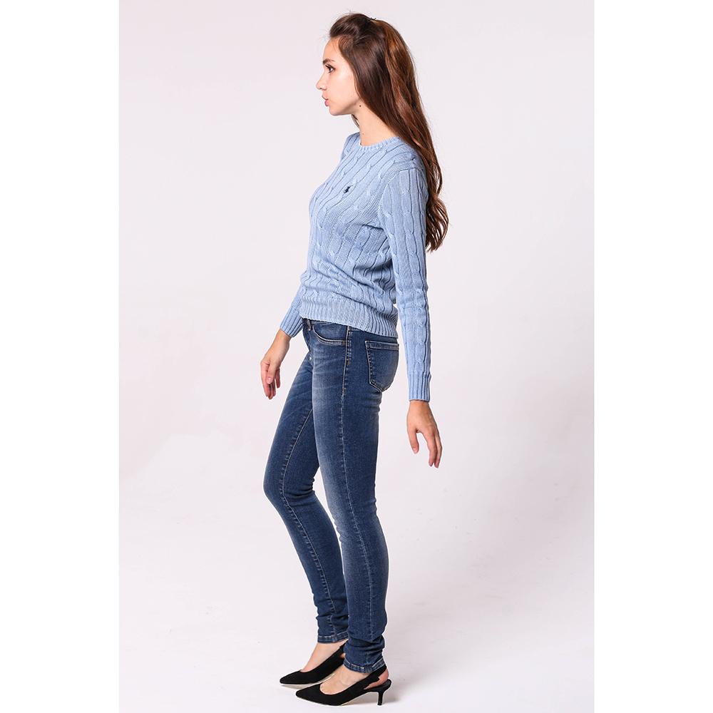 Потертые джинсы Philipp Plein синего цвета