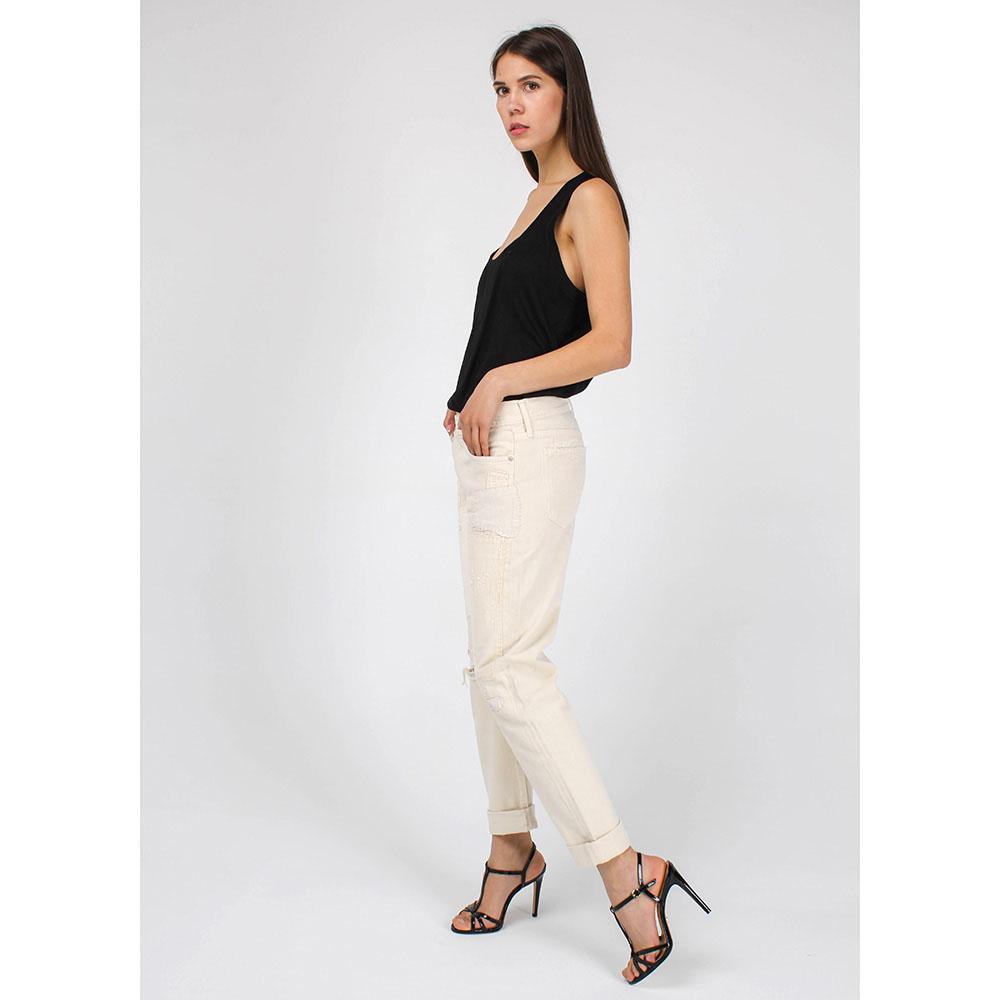 Белые рваные джинсы Polo Ralph Lauren прямого кроя