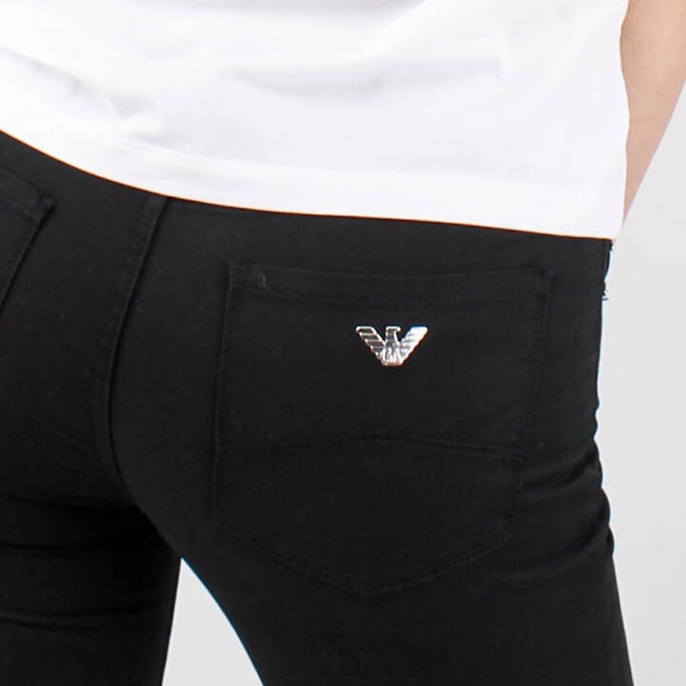 Узкие джинсы Emporio Armani черного цвета