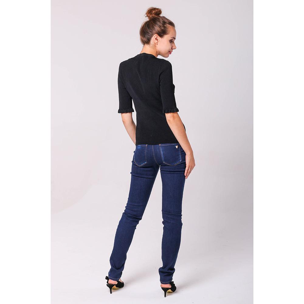 Зауженные джинсы Love Moschino синего цвета