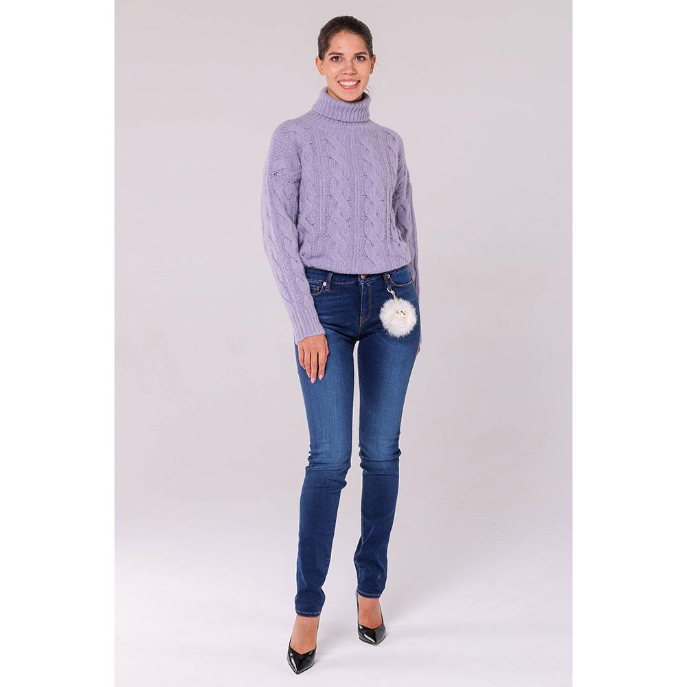 Узкие джинсы Love Moschino со съемным декором