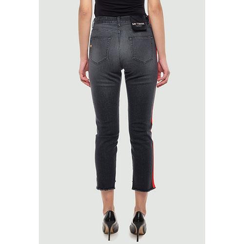 Прямые джинсы Twin-Set с лампасами