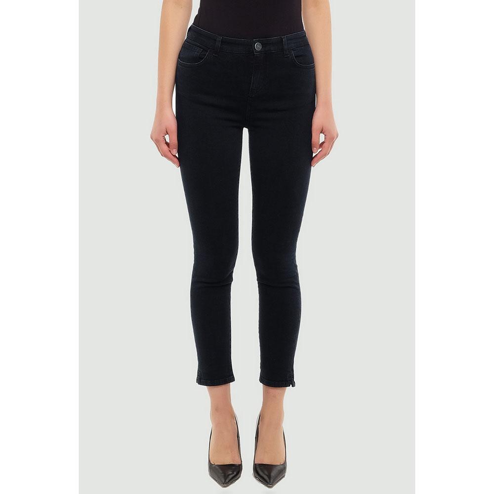 Укороченные джинсы Twin-Set черного цвета