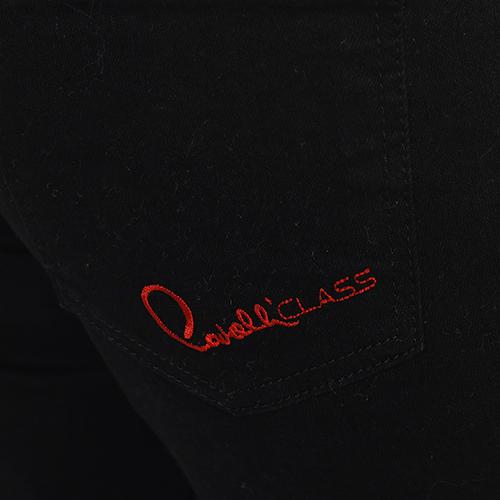 Черные джинсы Cavalli Class с манжетами, фото