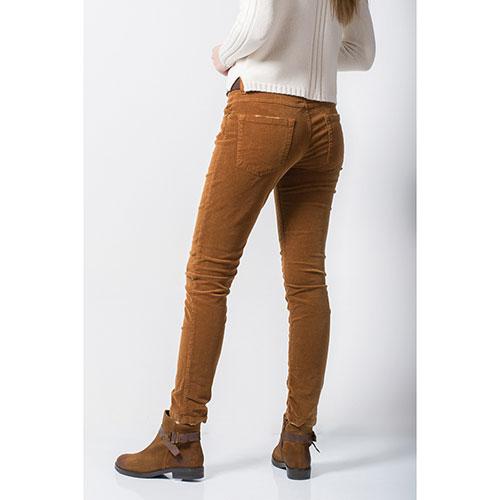 Велюровые джинсы Tensione in коричневого цвета, фото