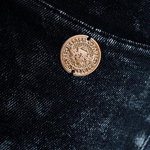 Джинсы Balmain с молнией внизу штанины, фото
