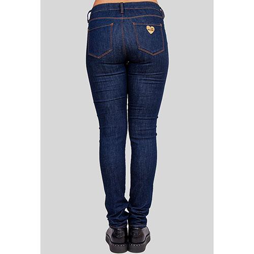 Зауженные джинсы Love Moschino в синем цвете, фото