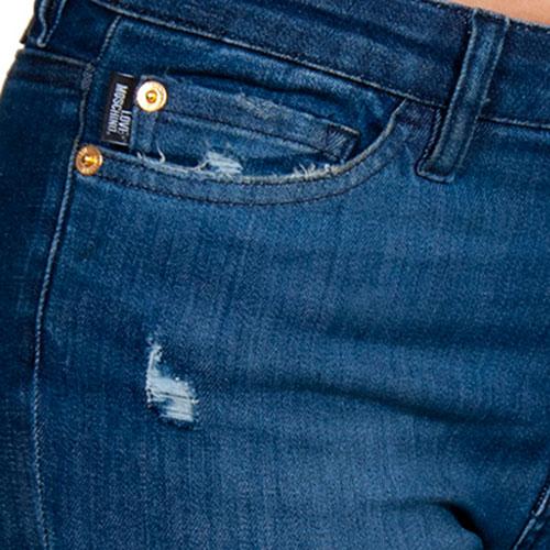 Синие джинсы Love Moschino с карманами в виде сердец, фото
