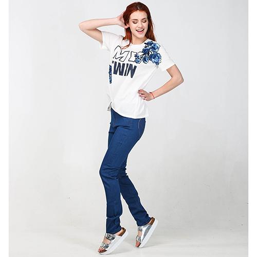 Джинсы-скинни Love Moschino синего цвета, фото