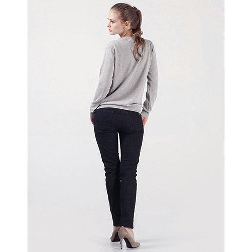 Черные джинсы Trussardi Jeans прямого покроя, фото