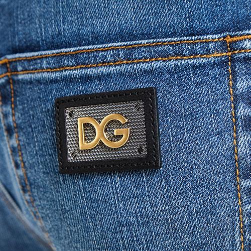 Зауженные джинсы Dolce&Gabbana в синем цвете, фото