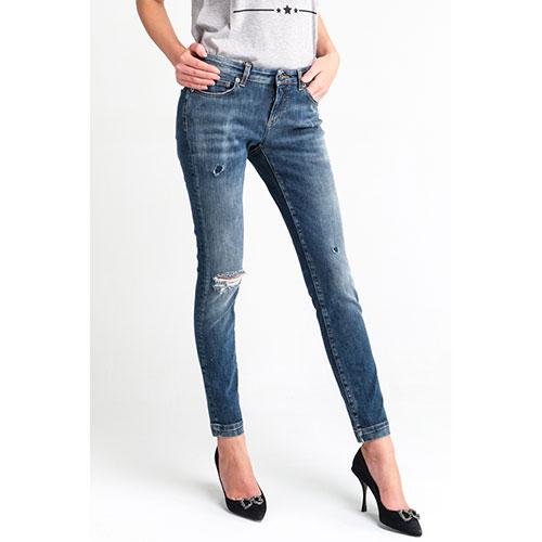 Джинсы-скинни Dolce&Gabbana синего цвета, фото