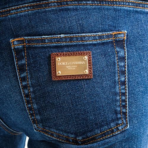 Прямые джинсы Dolce&Gabbana синего цвета, фото