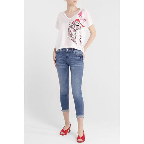 Укороченные джинсы Liu Jo синего цвета, фото