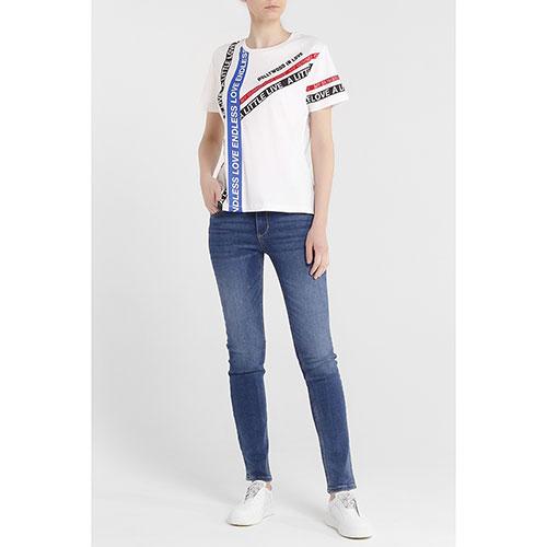 Прямые джинсы Liu Jo синего цвета, фото