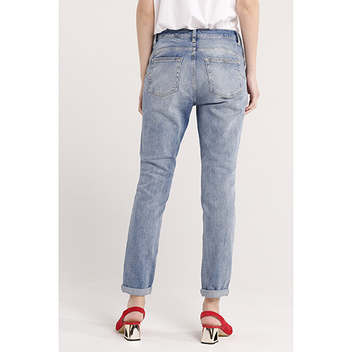 Голубые джинсы Liu Jo рваные, фото