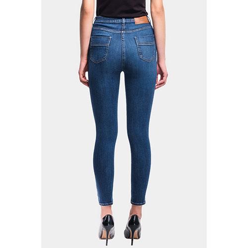 Узкие джинсы Elisabetta Franchi с боковыми пуговицами, фото
