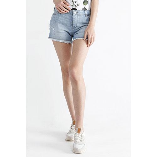 Джинсовые шорты Emporio Armani с бахромой, фото