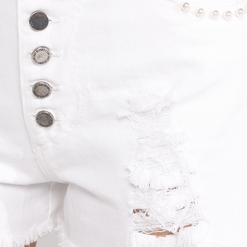 Белые шорты J.B4 Just Before на пуговицах, фото