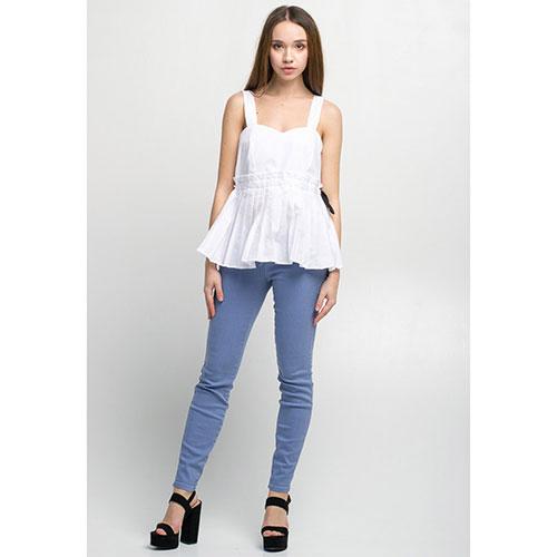 Легкие джинсы Kaos Jeans голубого цвета, фото