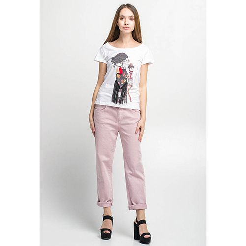 Джинсы-бойфренды Kaos розового цвета, фото