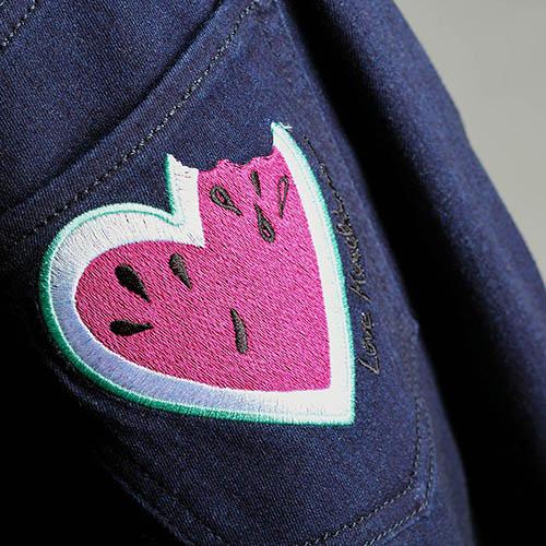 Джинсы-клеш Love Moschino синего цвета, фото