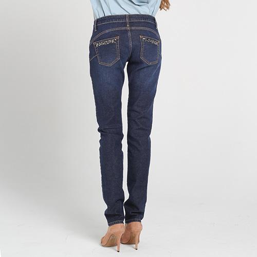 Узкие джинсы Blugirl Blumarine синего цвета, фото