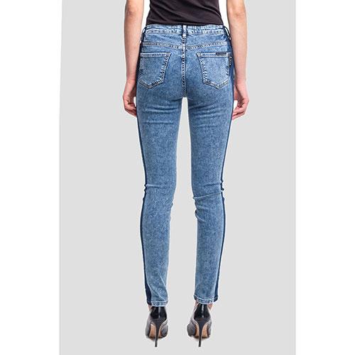 Синие джинсы Philipp Plein с лампасами-лого, фото