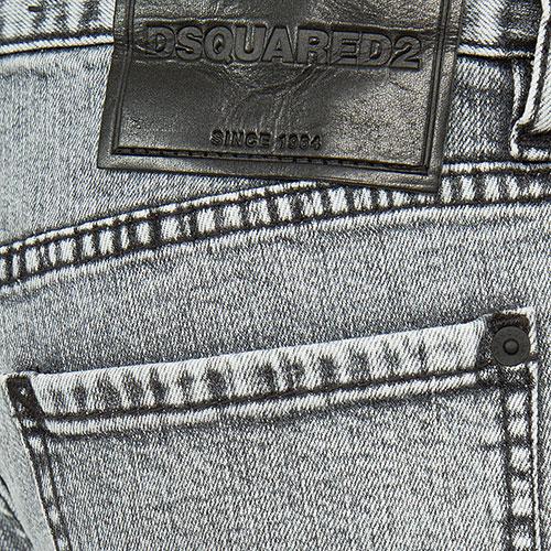 Серые джинсы Dsquared2 Hockney Jean зауженные, фото