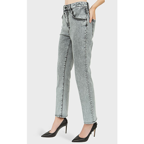 Прямые джинсы Dsquared2 Tight Cropped с высокой талией, фото