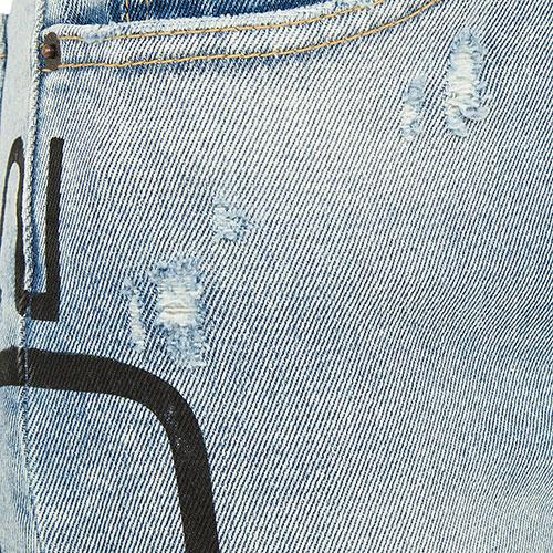 Джинсы Dsquared2 Tight Cropped с принтом, фото